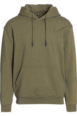 Alexander McQueen Men Hoodies - Men's Relaxed Hoodie - Khaki - Size XL