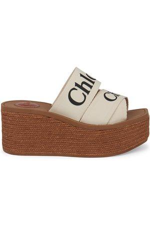 Chloé Women's Woody Platform Wedge Espadrilles - - Size 8