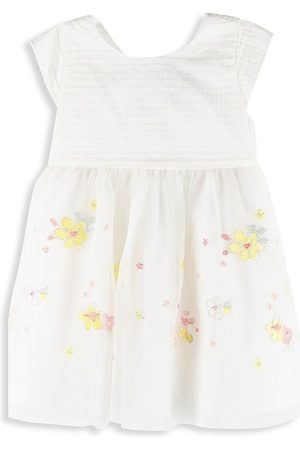 Petit Bateau Baby Girl's and Little Girl's Floral Embroidered Fit-&-Flare Dress - - Size 18 Months