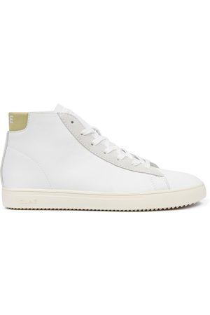 Clae Bradley Mid Leather Sneaker Beige