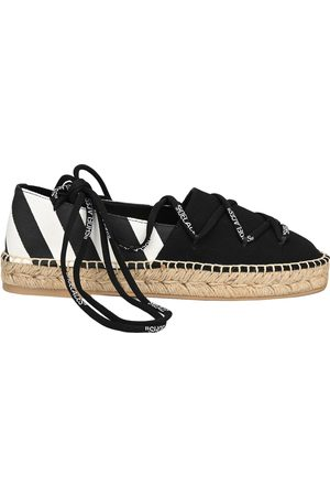 OFF-WHITE Lace up flat espadrilles