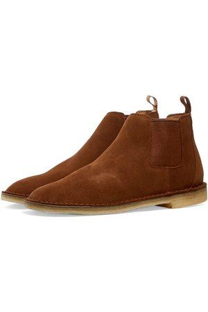 Clarks Originals Men Chelsea Boots - Desert Chelsea Cola Suede