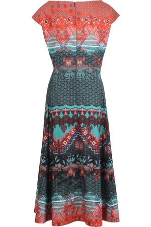 Ivko Geometric Printed Dress in Black SS21