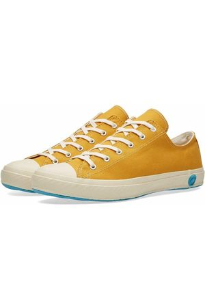 Shoes Like Pottery Handmade Japanese Low Canvas Trainer - Mustard