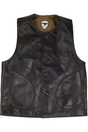 El Solitario Macone Leather Vest Lightweight Olive