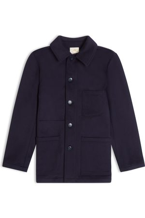 Burrows and Hare Burrows & Hare Wool Workwear Jacket - Dark Navy