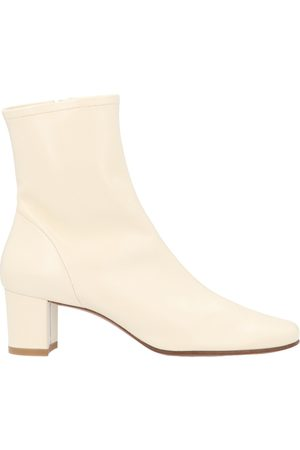 By Far WOMEN'S 1660305SWHTLWH LEATHER ANKLE BOOTS