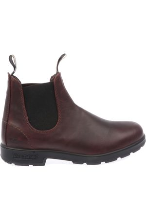Blundstone MEN'S 202150BC150 BURGUNDY LEATHER ANKLE BOOTS