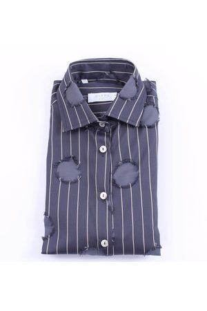 BARBA Shirts Casual Women Blue and beige