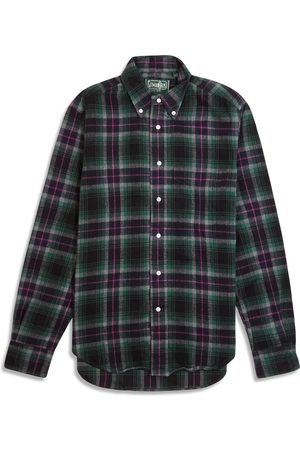 Gitman Bros. Men Shirts - . Vintage Button Down Flannel Shirt - & Pink Check