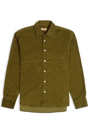 Burrows and Hare Burrows & Hare Cord Shirt - Olive