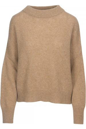 360CASHMERE Clementine Oversized Funnel Neck Knit Colour: Camel, Size