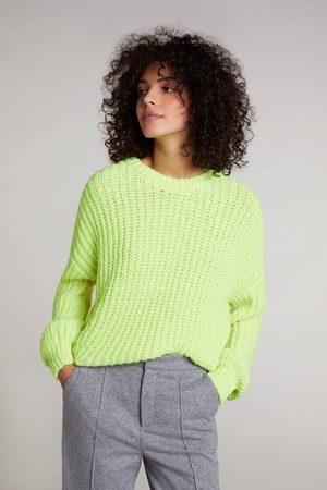 Oui Sporty Pearl Rib Knit Neon Lime