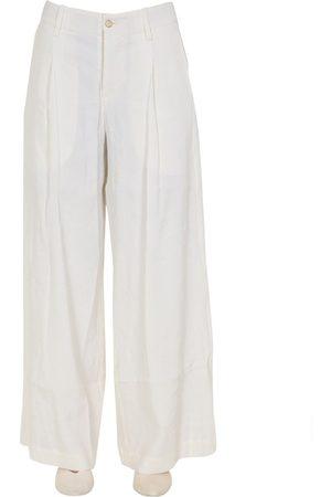 UMA WANG WOMEN'S UW3020R14P0UW100 LINEN PANTS