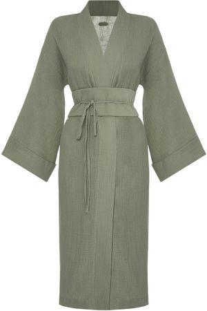 Women Kimonos - Khaki Ichika Kimono