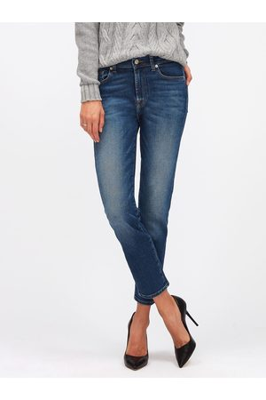 7 for all Mankind Roxanne Ankle Straight Jeans Mid