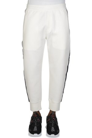 Emporio Armani Double-jersey Joggers with Logo Tape