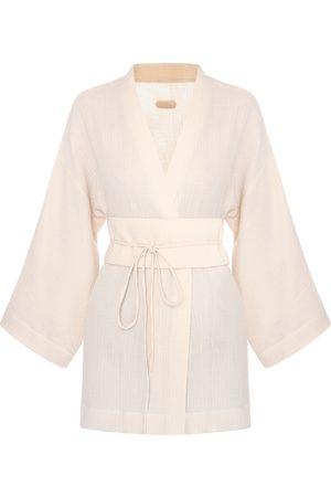 Women Kimonos - Ivory Sakura Kimono Top