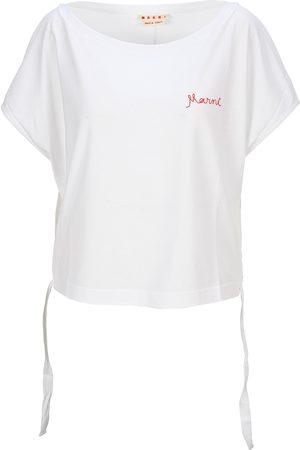 Marni Embroidered-logo T-shirt