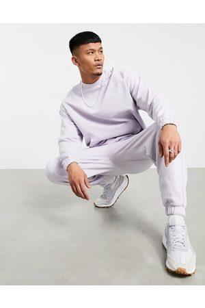 ASOS Organic tracksuit with oversized sweatshirt & oversized sweatpants in lilac