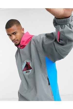 ASOS 4505 ski oversized ski jacket with color block-Multi