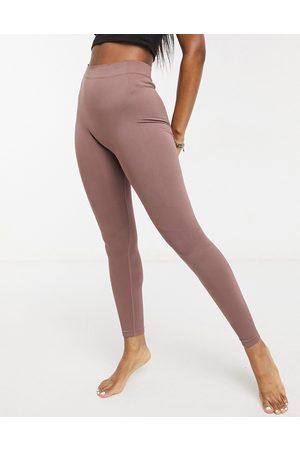Weekday Celestia yoga seamless leggings in mocha