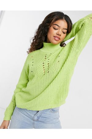 The East Order Polly high neck knit in lime