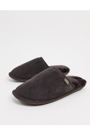 Sheepskin by Totes Suede mule slippers in