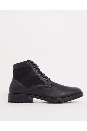 ASOS Vegan lace up boot in faux leather