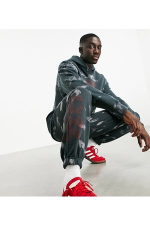 Topman Exclusive @ ASOS co-ord marble print sweatpants in