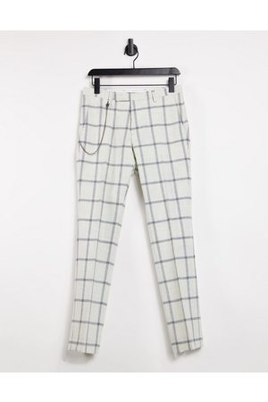 Twisted Tailor Skinny pants with chain in windowpane check