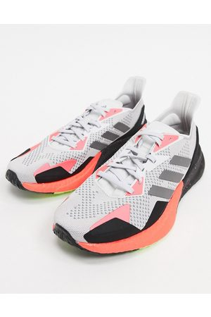 adidas Adidas Running X9000L3 sneakers in gray and orange