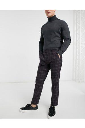 River Island Skinny suit pants in plaid