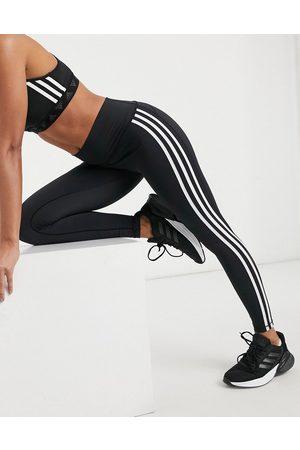adidas Adidas Training Believe 3 stripe leggings in