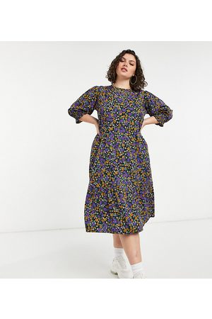 Yours Midi smock dress in floral