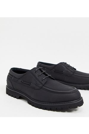 ASOS Wide Fit boat shoes in faux suede with chunky sole