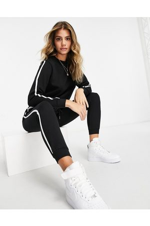 ASOS Pants - Tracksuit sweatshirt / basic sweatpants with contrast binding in organic cotton in