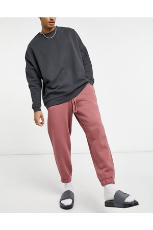 ASOS Set oversized sweatpants in washed berry