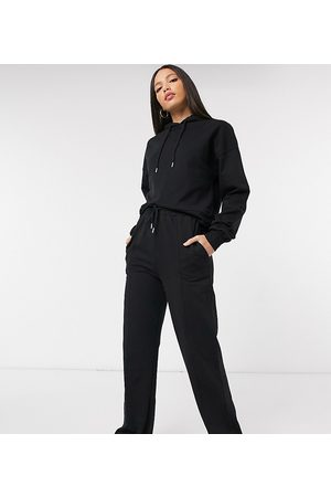 ASOS ASOS DESIGN Tall tracksuit hoodie / straight leg sweatpants with pintucks in