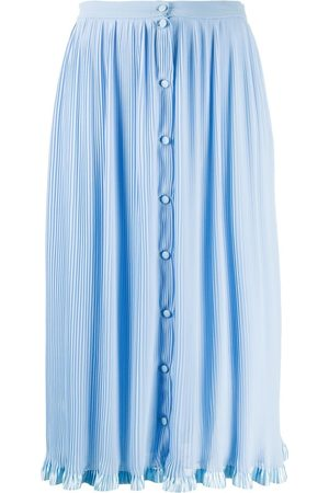 MARCO DE VINCENZO Micro-pleat midi skirt