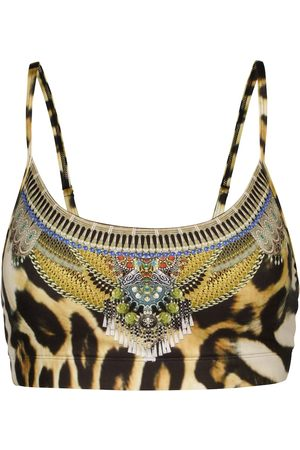 Camilla Leopard-print sports bra