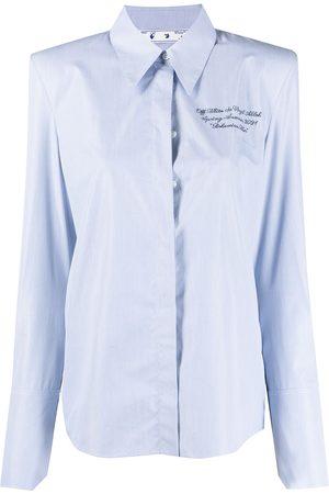 OFF-WHITE Slogan-print button-up shirt