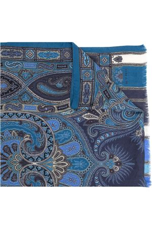 Etro Men Scarves - Paisley print fringed scarf