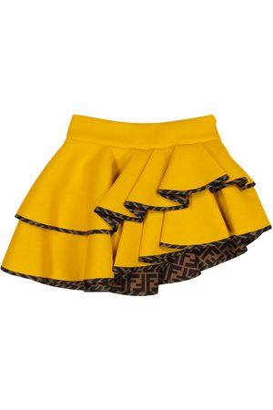 Fendi Asymmetrical neoprene skirt