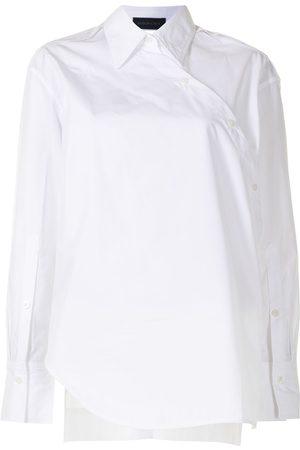 EUDON CHOI Women Shirts - Asymmetric wraparound shirt