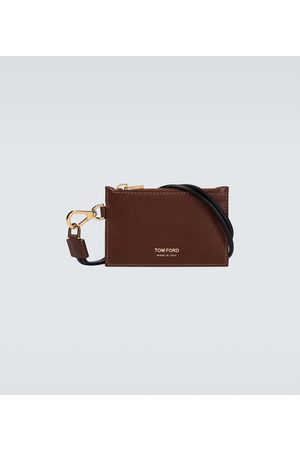Tom Ford Men Wallets - Leather wallet with neck strap