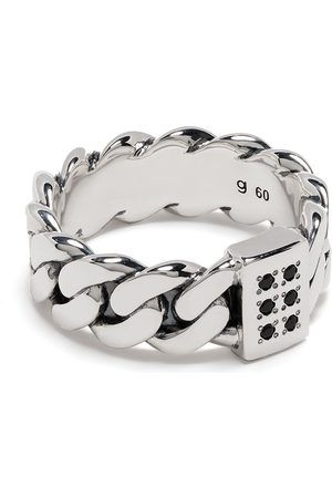 TOM WOOD Plated chain-link ring