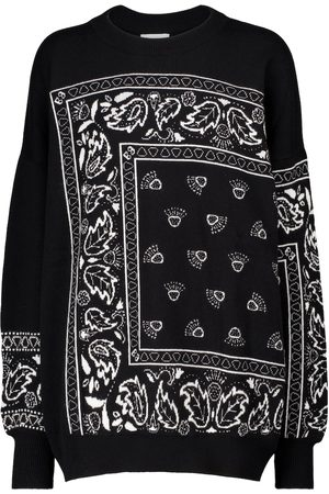 Barrie Women Sweaters - Exclusive to Mytheresa – Bandana-print cashmere-blend sweater