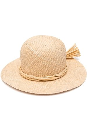 Il gufo Girls Hats - Wide-brim straw sun hat - Neutrals