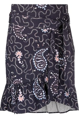 Isabel Marant Women Printed Skirts - Liliko paisley-print mini skirt